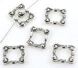 Metalen kralen rechthoek