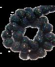 Sparkling beads 4mm zwart