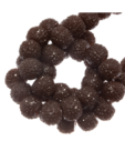 Sparkling beads 4 mm hazelnoot bruin