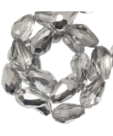 Facetkraal druppel 5x7mm Silver shine