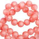 Polaris rond mat koraal rose 8mm