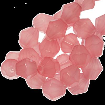 Konische glaskraal salmon pink 4mm
