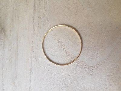 Ronde ring 40x0,7mm goud
