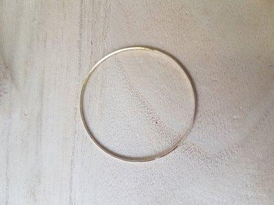 Ronde ring 50x0,7mm goud