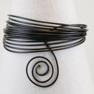 Aluminium draad 1.5mm zwart