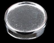 Doublebeads metalen schuifkraal nikkelkleur
