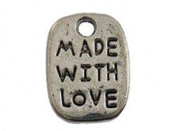 Bedel 'Made with love' rechthoek
