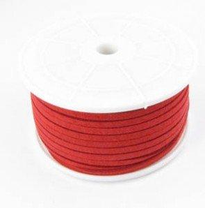 Imitatie Suede koord 3mm rood