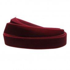 Fluweelband rood 19mm