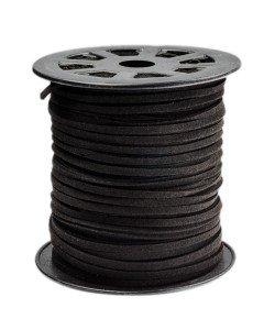 Imitatie Suede koord 3mm zwart