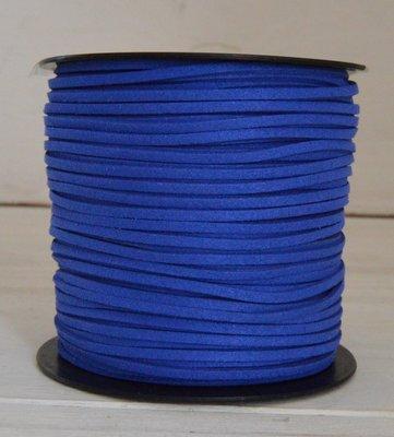 Imitatie Suede koord 3mm korenblauw