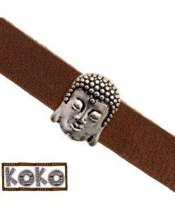 Koko Schuiver Buddha hoofd 10x2mm