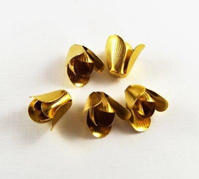 Metalen kralenkapje bloem