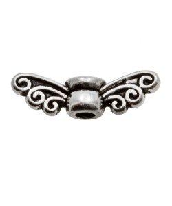 Metalen kralenpot with wing groot