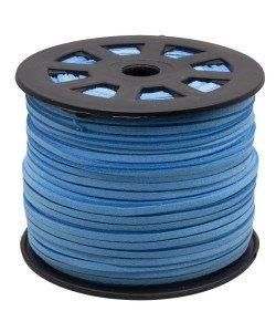 Imitatie Suede koord 3mm light blue