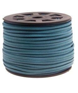 Imitatie Suede koord 3mm denim blue