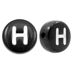 Letterkraal zwart H