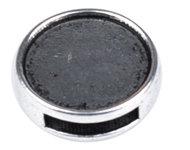 Doublebeads metalen schuifkraal oudzilverkleur