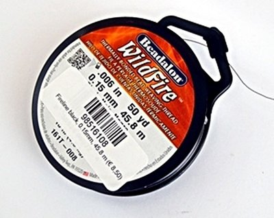 Fireline zwart 0.15mm