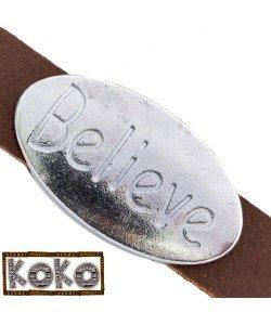 Koko Schuiver BELIEVE zilver