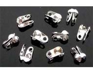Metalen knijpkalot voor bolletjesketting, 6x4mm