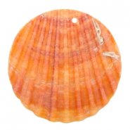 Schelpkraal hanger sunny orange