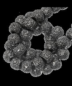 Sparkling beads 4mm Donker grijs