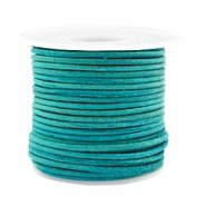 DQ Leer 2mm antique turquoise green