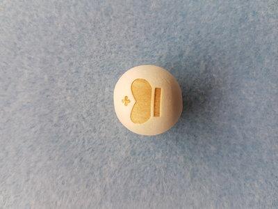 Houten kroontje kraal ca. 20mm