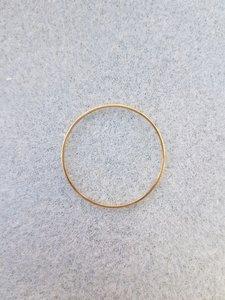 Ronde ring 30x0,7mm goud