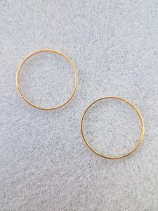 Ronde ring 25x0,7mm goud