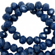 Facetkraal rondel  Ensign blue 6x4mm