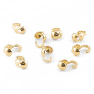 DQ Kalotje goldplated 4mm