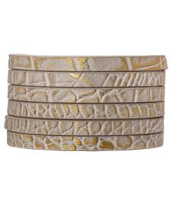 Plat koord 5mm goud en zilver