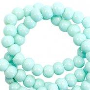 Glaskraal turquoise green 3mm