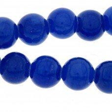 Half edelsteen kraal blauwe jade