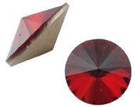 Puntsteen siamrood glas kristal Rivoli 12mm