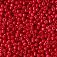 Glas rocailles Warm red 2mm