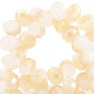 facetkraal 6x4mm topaz pearl