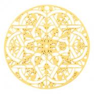 Bohemian hanger goud 30mm