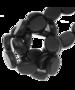 Houten platte kraal, diep zwart 10x14mm